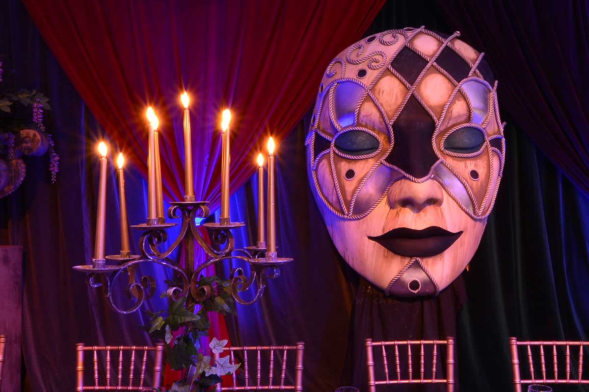 Sydney Prop Specialists Masquerade Theme Harlequin Mask