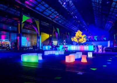 Neon Garden Theme - Sydney Prop Specialists