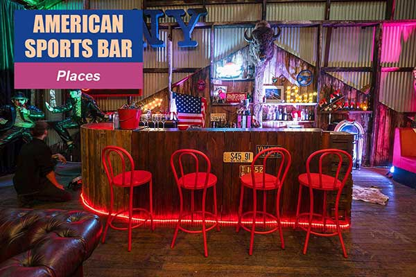 American Sports Bar Theme - Place Themes -  Sydney Prop Specialists