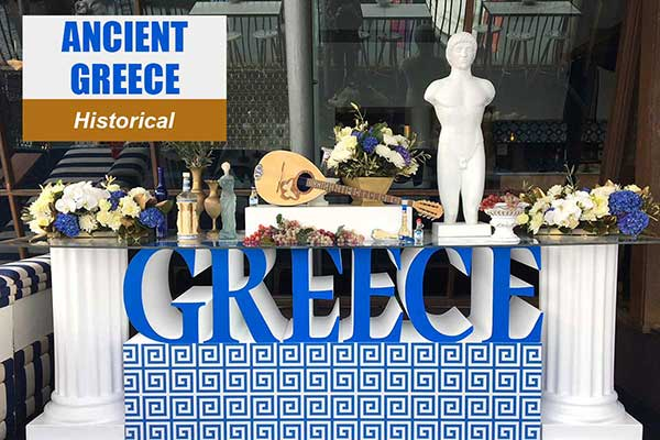 Ancient Greece Theme - Historical Themes -  Sydney Prop Specialists