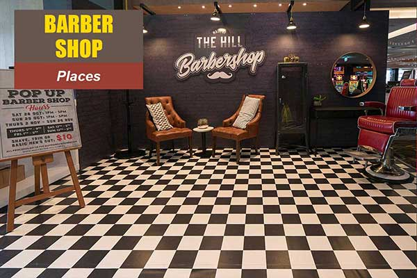 Barber Shop Theme - Place Themes -  Sydney Prop Specialists