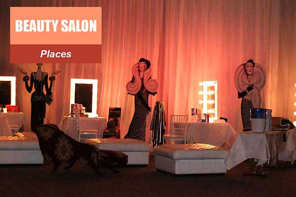 Beauty Salon Theme - Place Themes -  Sydney Prop Specialists