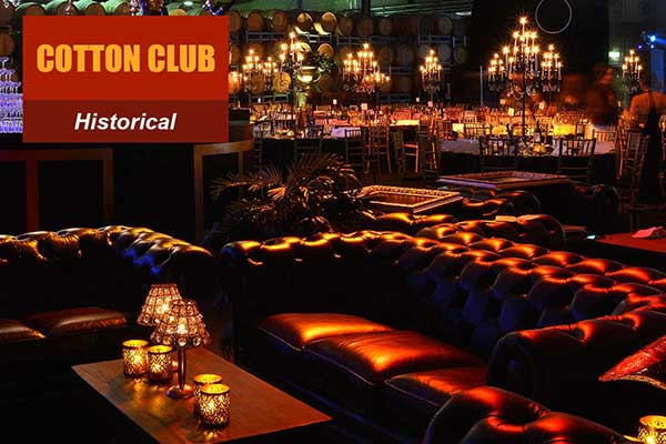 Cotton Club Theme - Historical Themes -  Sydney Prop Specialists