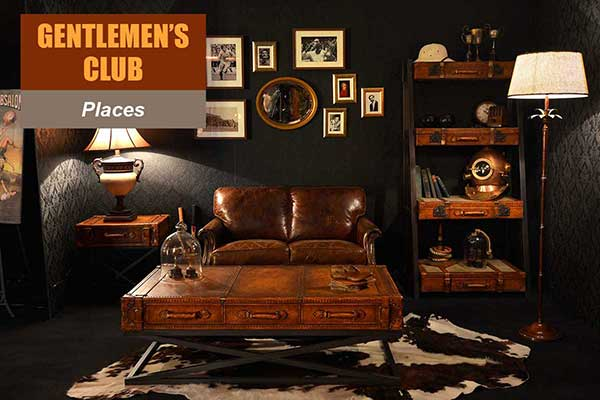 Gentlemen's Club Theme - Place Themes -  Sydney Prop Specialists