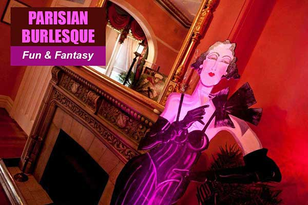 Parisian Burlesque Theme - Fun and Fantasy Themes - Sydney Prop Specialists