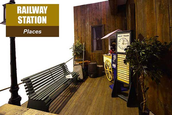 Railway Station Theme - Place Themes -  Sydney Prop Specialists