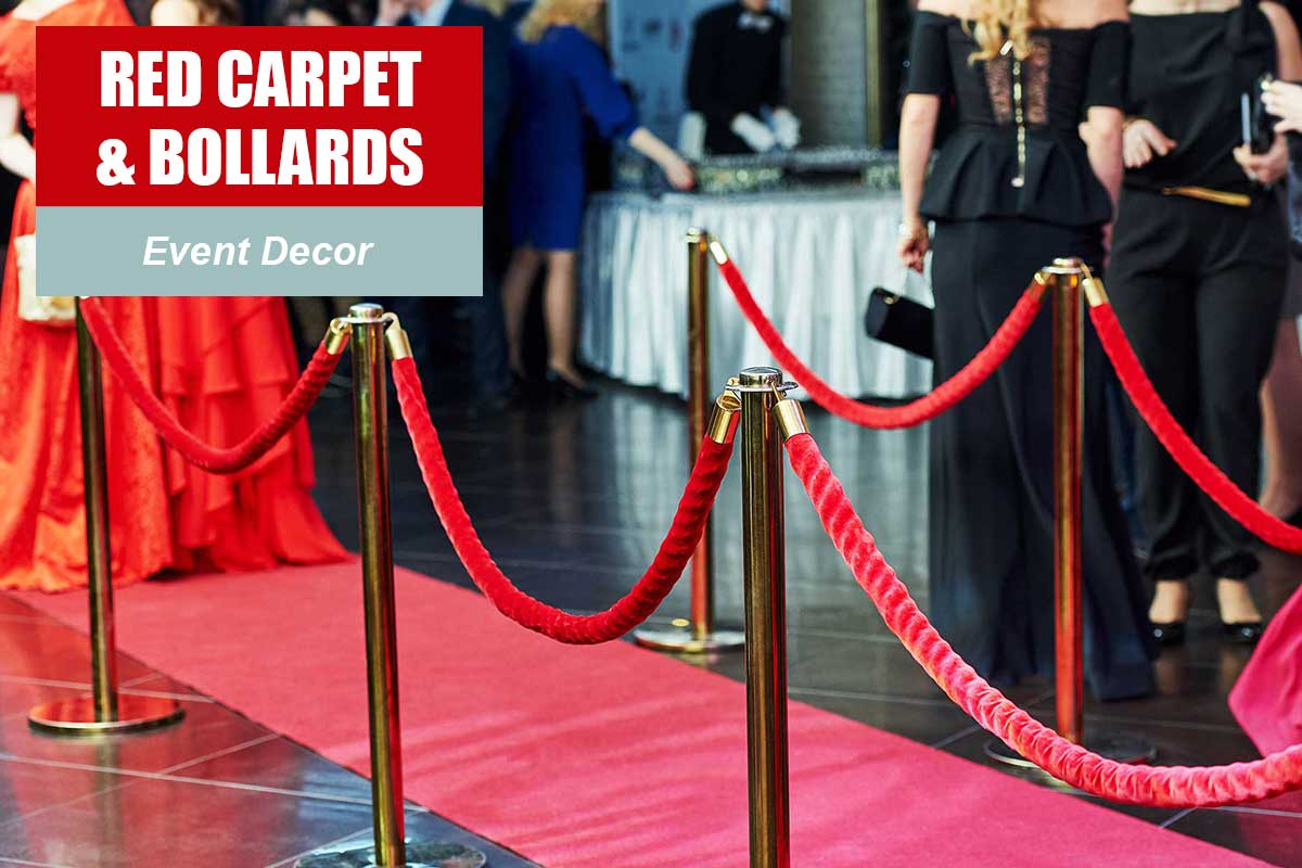 Red Carpet and Bollards  -  Sydney Prop Specialists