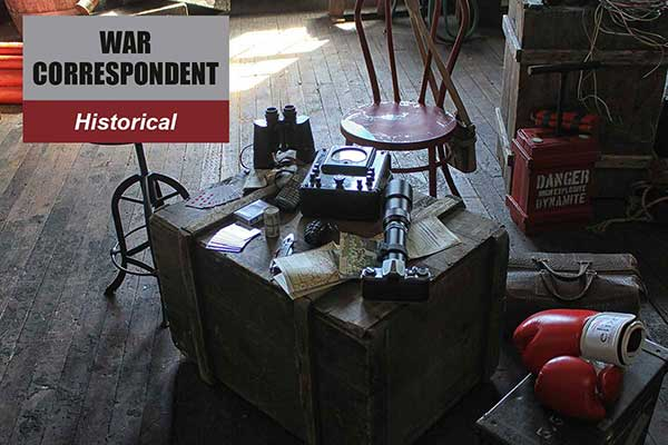 War Correspondent Theme - Historical Themes -  Sydney Prop Specialists