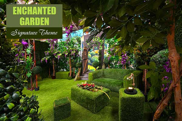 Enchanted Garden Theme - Signature Themes - Sydney Prop Specialists