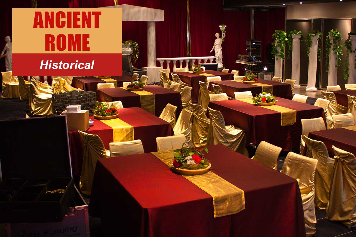 Ancient Rome Theme - Conference Themes at Sydney Prop Specialists