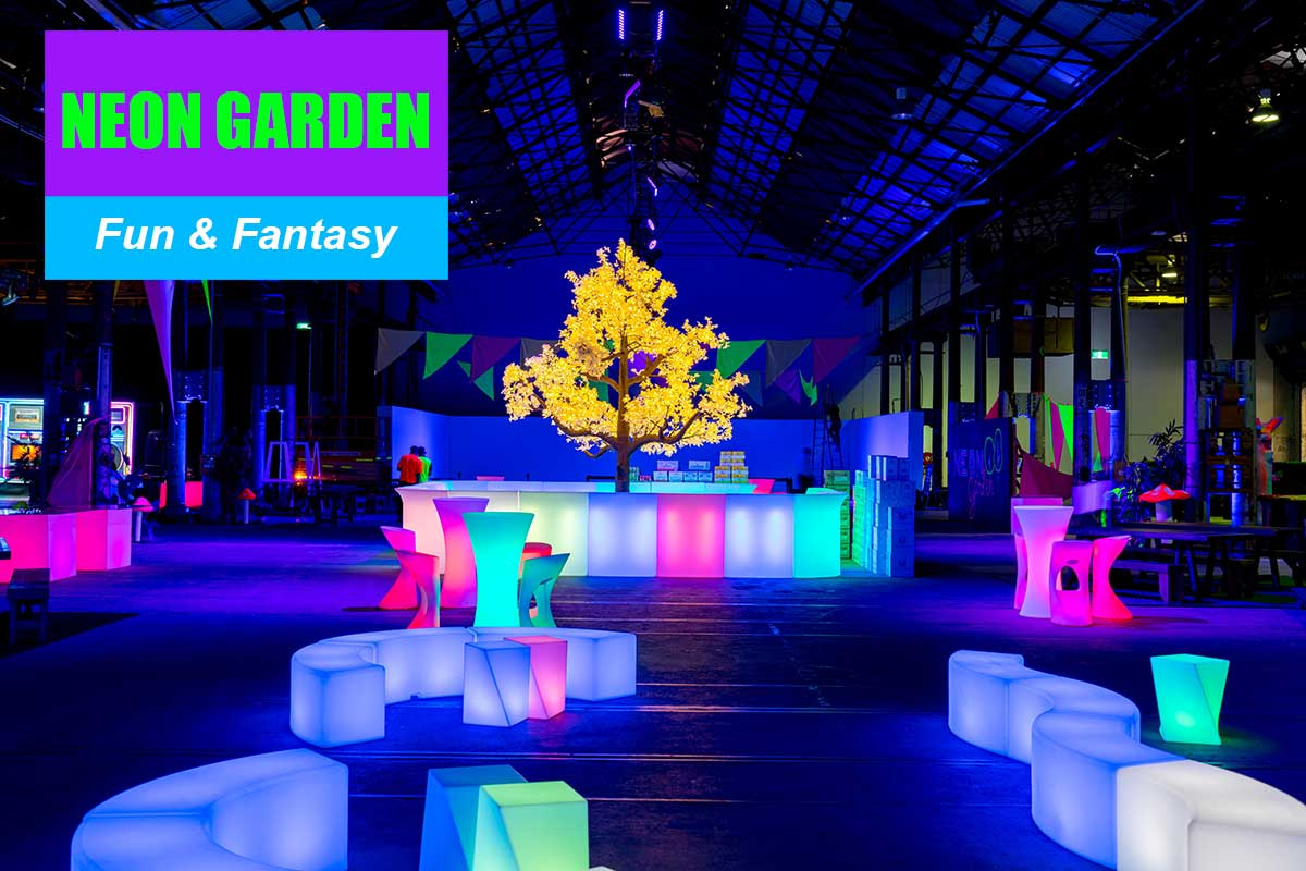 Neon Garden Theme - Brand Activation Themes at Sydney Prop Specialists