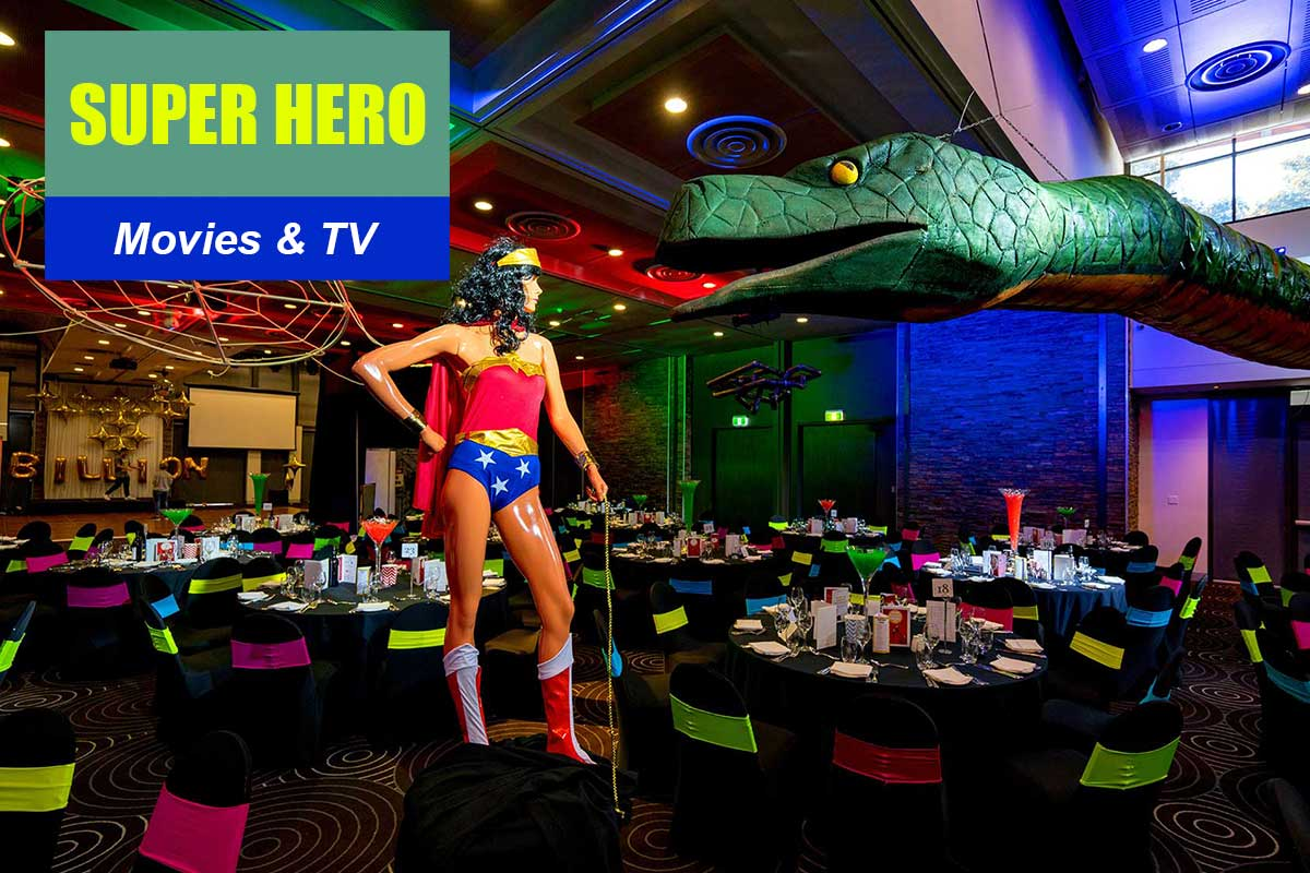 Superhero Theme - Brand Activation Themes at Sydney Prop Specialists