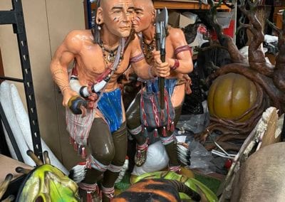 Man Cave Props and Theming - Life-size Native American Indian Props