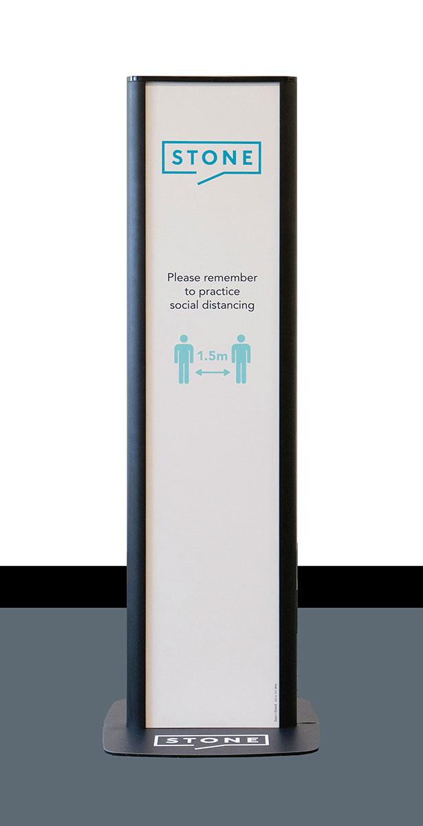 Branded Sanitiser Dispenser Stands