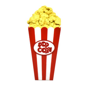 Giant Popcorn in Container - Sydney Prop Specialists - Prop Hire and Event Theming